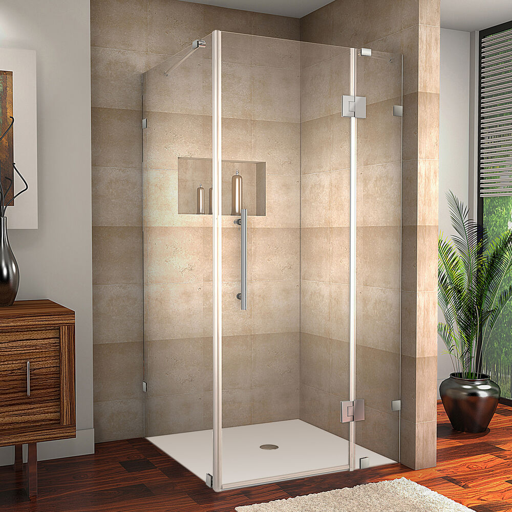 Aston Avalux 38x38 Corner Frameless Shower Enclosure Chrome SEN987 CH 3838 10