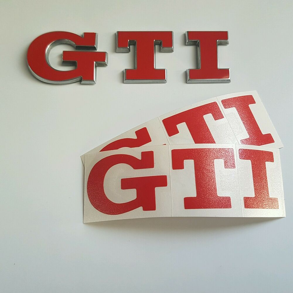 vw golf polo 5 6 7 v vi vii gti sticker emblem schriftzug. Black Bedroom Furniture Sets. Home Design Ideas