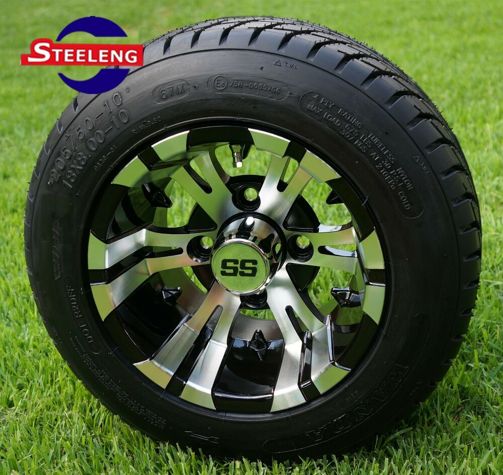 10 Inch Wheels For Golf Cart : Golf cart quot machined vampire wheels rims and
