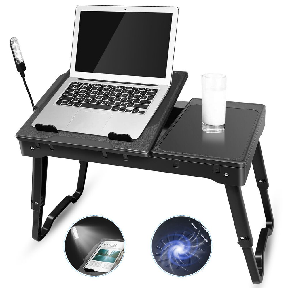 Foldable Laptop Table Tray Desk Tablet Desk Stand Bed