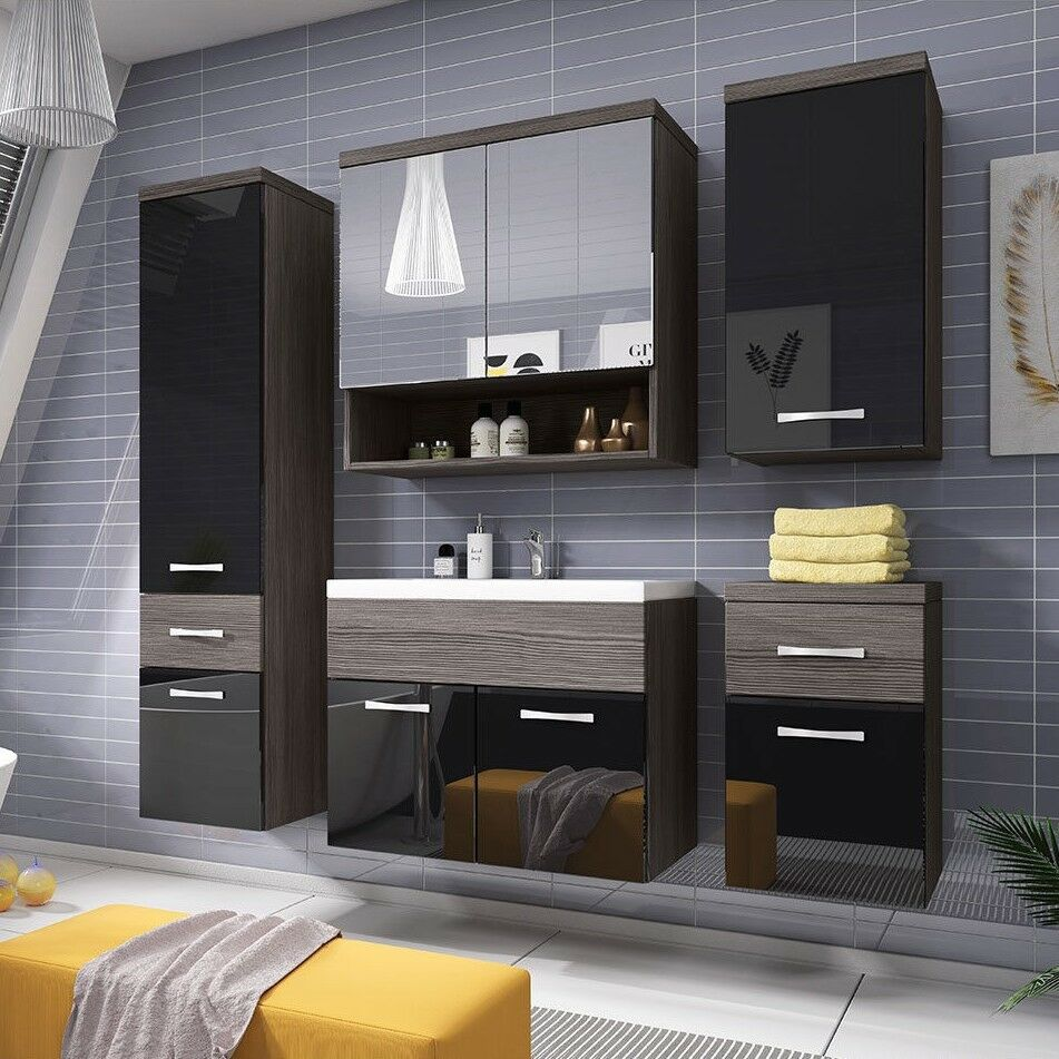 badezimmerm bel badm bel set badezimmer emma ii 6tlg mit waschbecken ebay. Black Bedroom Furniture Sets. Home Design Ideas
