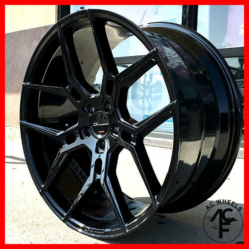 "22"" GIOVANNA WHEELS HALEB GLOSS BLACK RIMS 5x115 FIT ..."