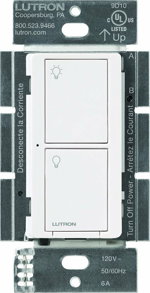 lutron pd 6ans wh caseta wireless multi location in wall neutral switch 6 amp ebay. Black Bedroom Furniture Sets. Home Design Ideas