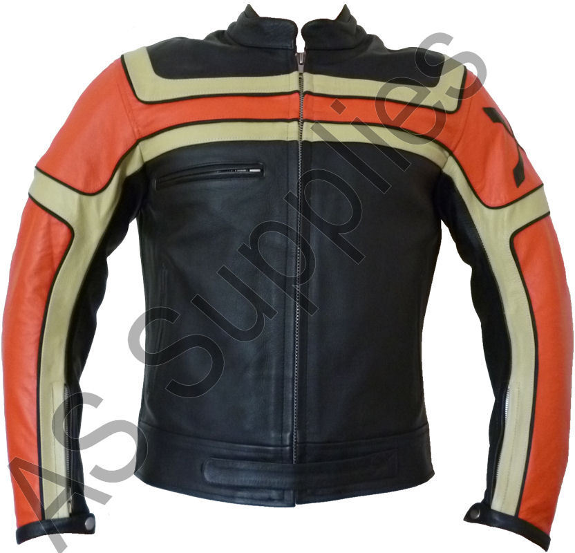inferno nexus veste de moto en cuir blouson motard toutes tailles ebay. Black Bedroom Furniture Sets. Home Design Ideas
