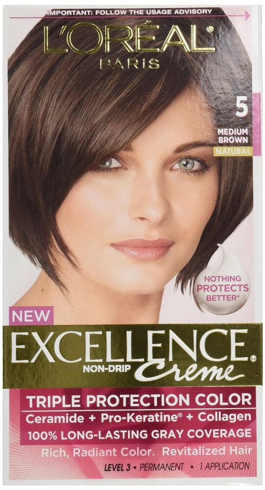 L Oreal Excellence 5 Medium Brown Hair Color Pack Of 12