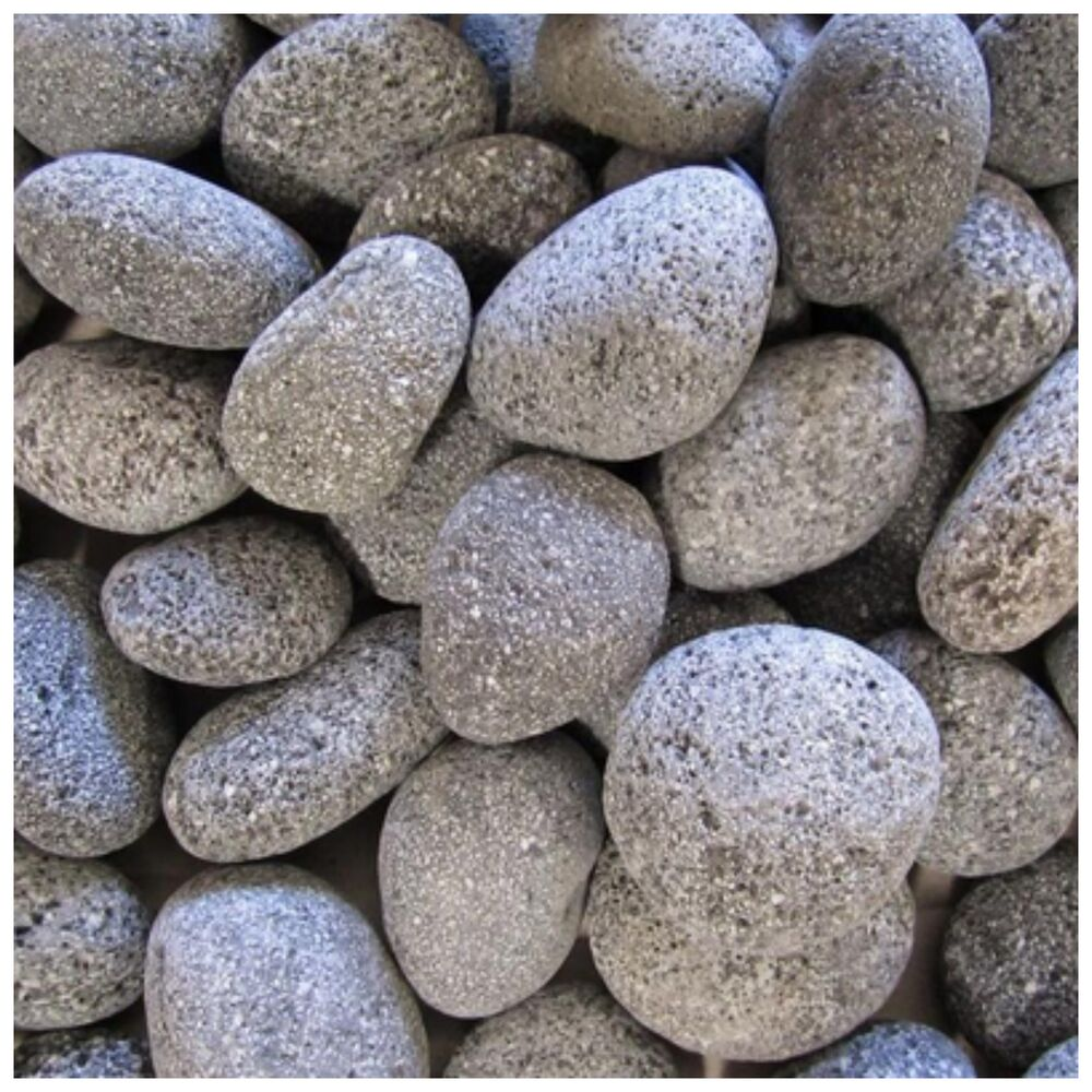 Outdoor fire pit landscape landscaping garden lava rocks for Stone pebbles for garden