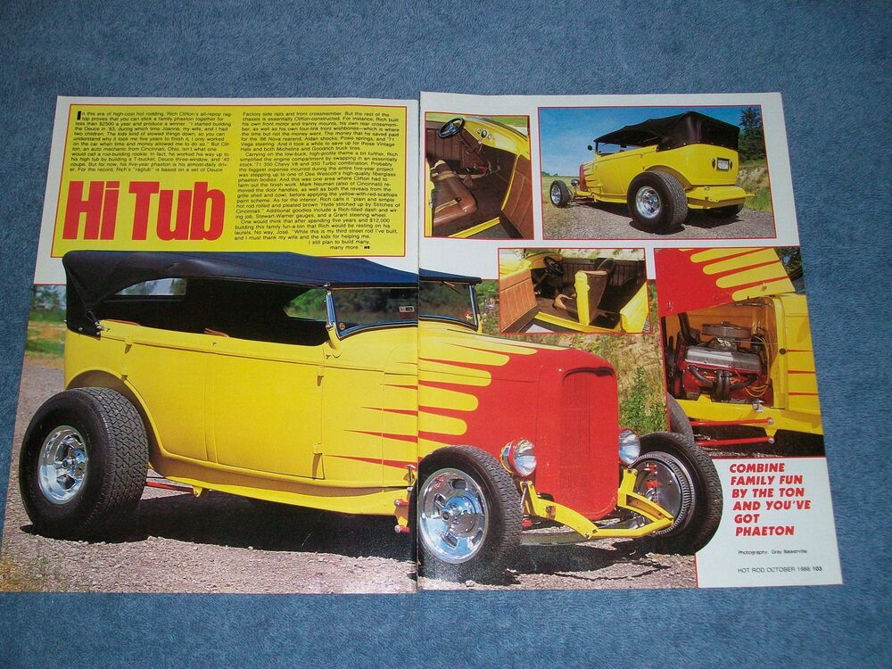 "1932 Ford Parts Ebay >> 1932 Ford Phaeton Rag Top Hot Rod Article ""Hi Tub"" Duece 