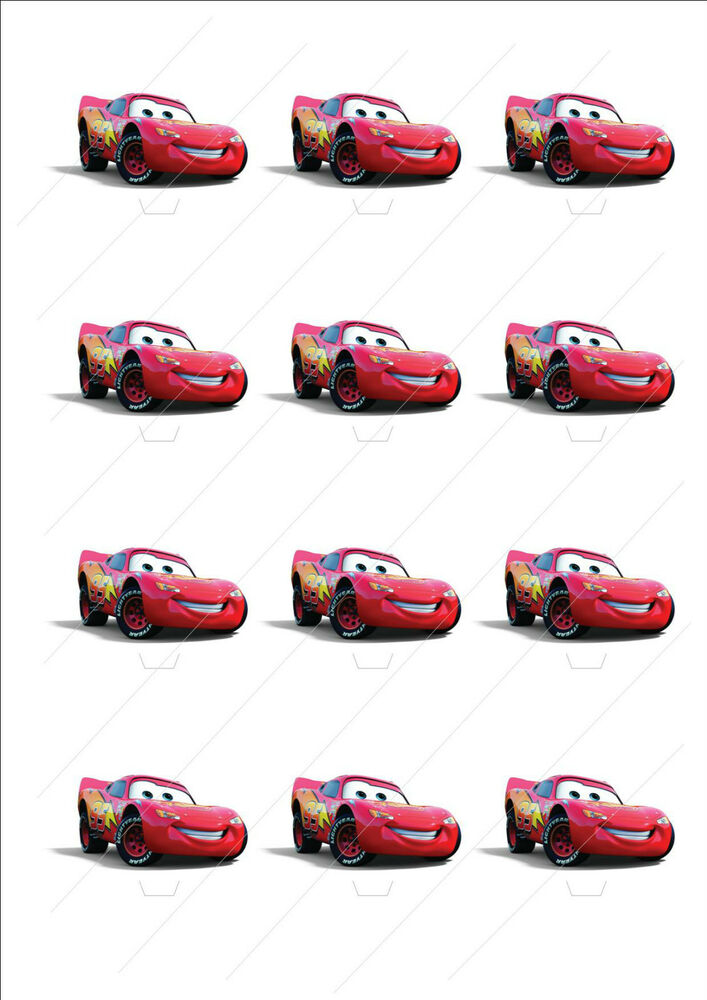 Edible Lightning Mcqueen Cake Decorations