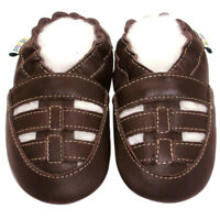 Freeshipping Jinwood Soft Sole Leather Baby Shoes Infant Kids Sandal Brown 6-12M