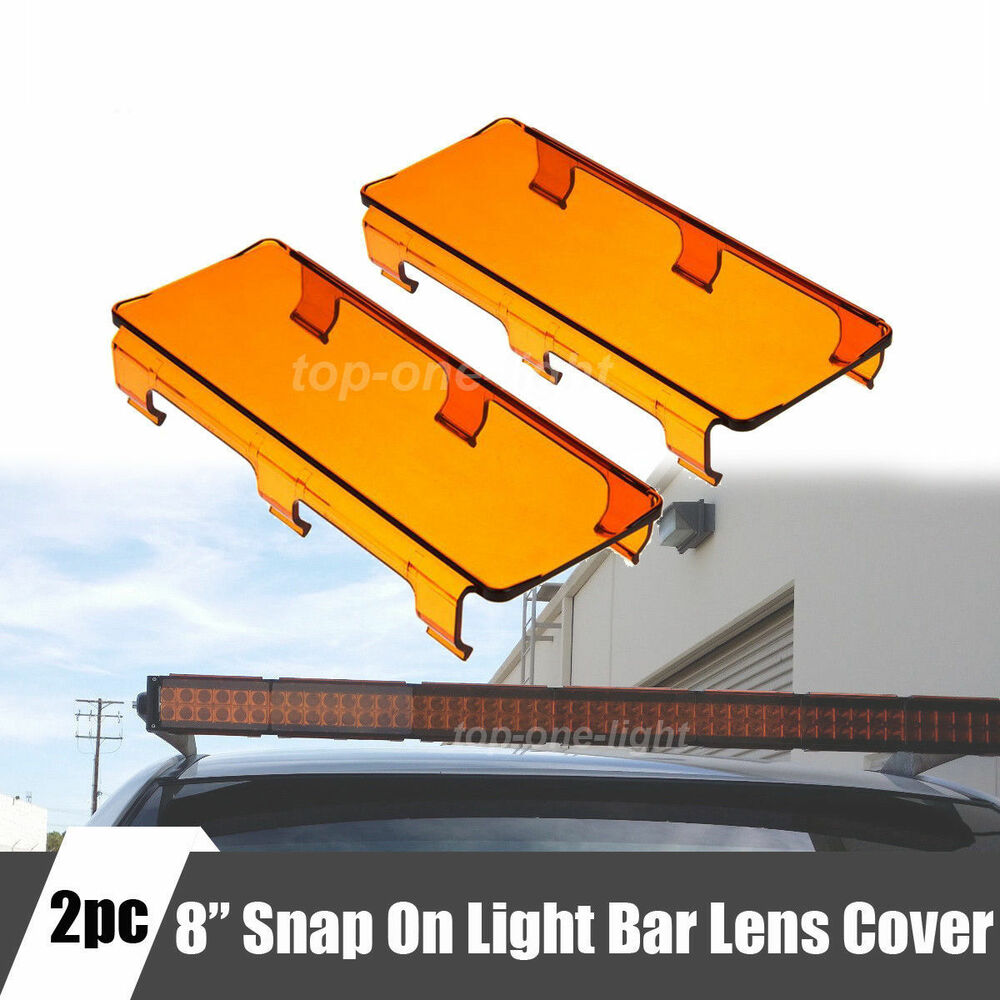 2pcs 8 Quot Inch Amber Covers Protect Lens For Offroad Led