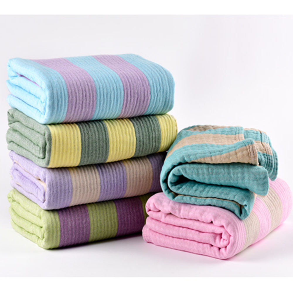 Sporty stripe 100 cotton blankets throws beach home couch sofa cover 120 160cm ebay Throw blankets for sofa