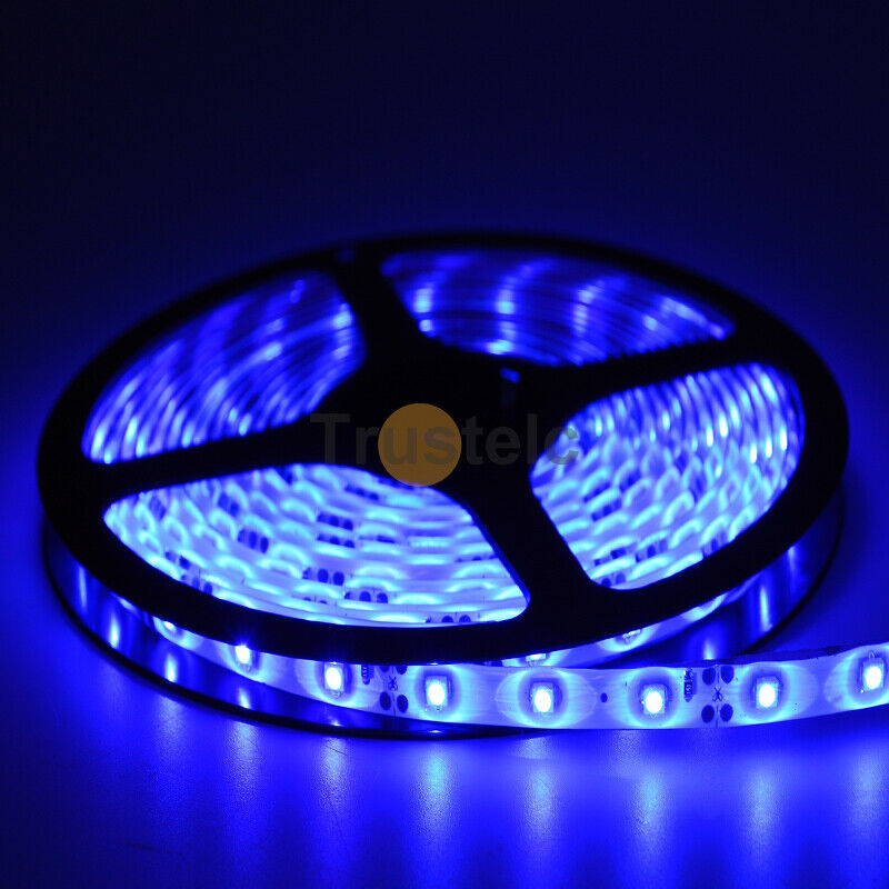 Led String Lights For Cars : 16.4ft Blue 3528 SMD 300 LED Rope Lights Waterproof IP65 DC12V 5M Car LED Tape eBay