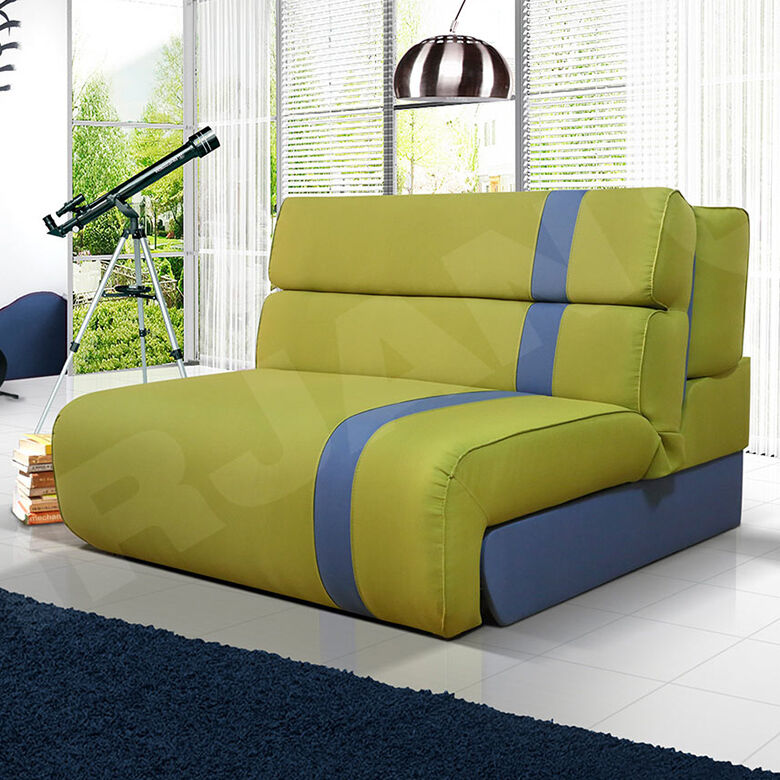 kindersofa young sofa couch mit schlaffunktion und bettkasten kindercouch ebay. Black Bedroom Furniture Sets. Home Design Ideas