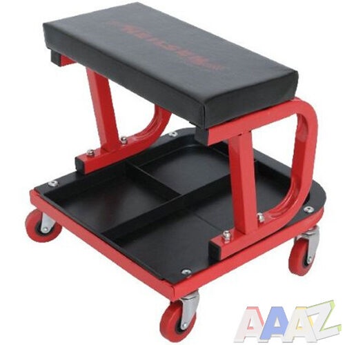 Mechanics padded creeper trolley seat car van garage tool for Garage seat lens