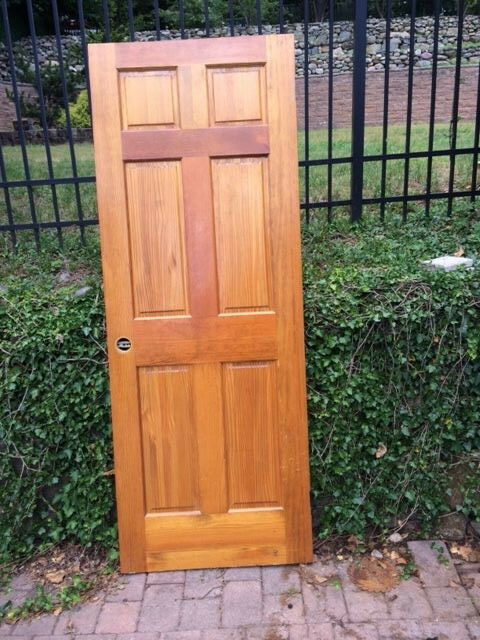 Solid wood interior doors 6 panel raised excellent cond 80x36 ebay for Solid wood panel interior doors
