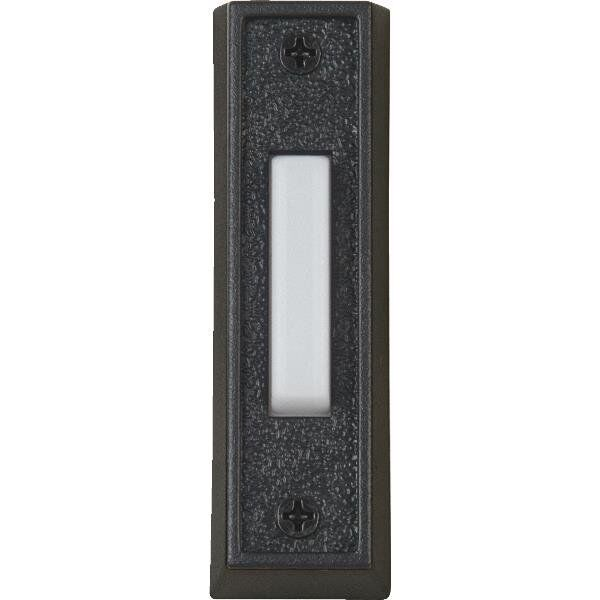 wired doorbell push button black white surface. Black Bedroom Furniture Sets. Home Design Ideas