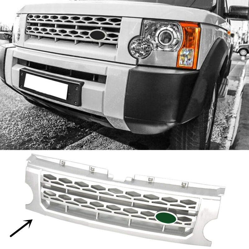Sold Land Rover Discovery 3 Discov: For Land Rover Discovery LR3 2005-2009 Silver Front Grille