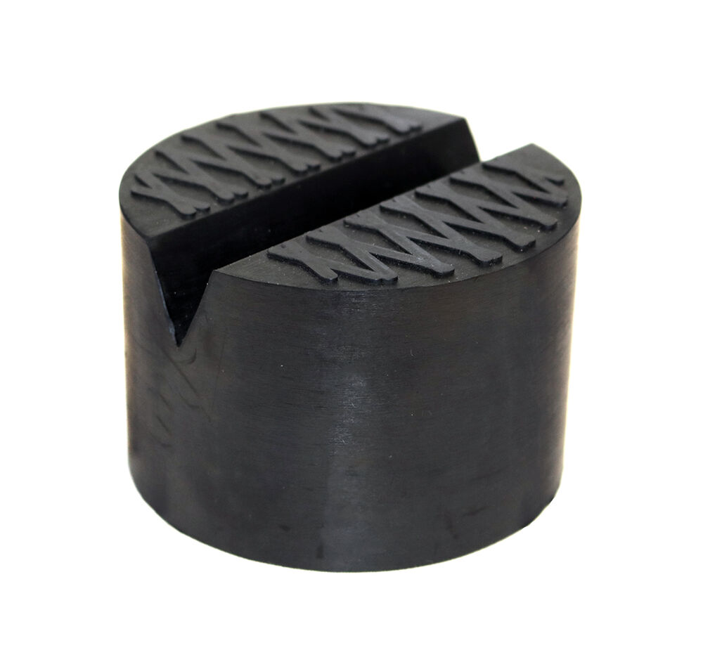 Hydraulic Lift Pad : Large v slot groove universal jack pad pinch weld rubber
