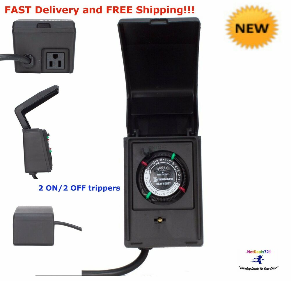 15 Amp Heavy Duty Outdoor Timer Outdoor Decorations Lighting Swimming Pool Pump Ebay
