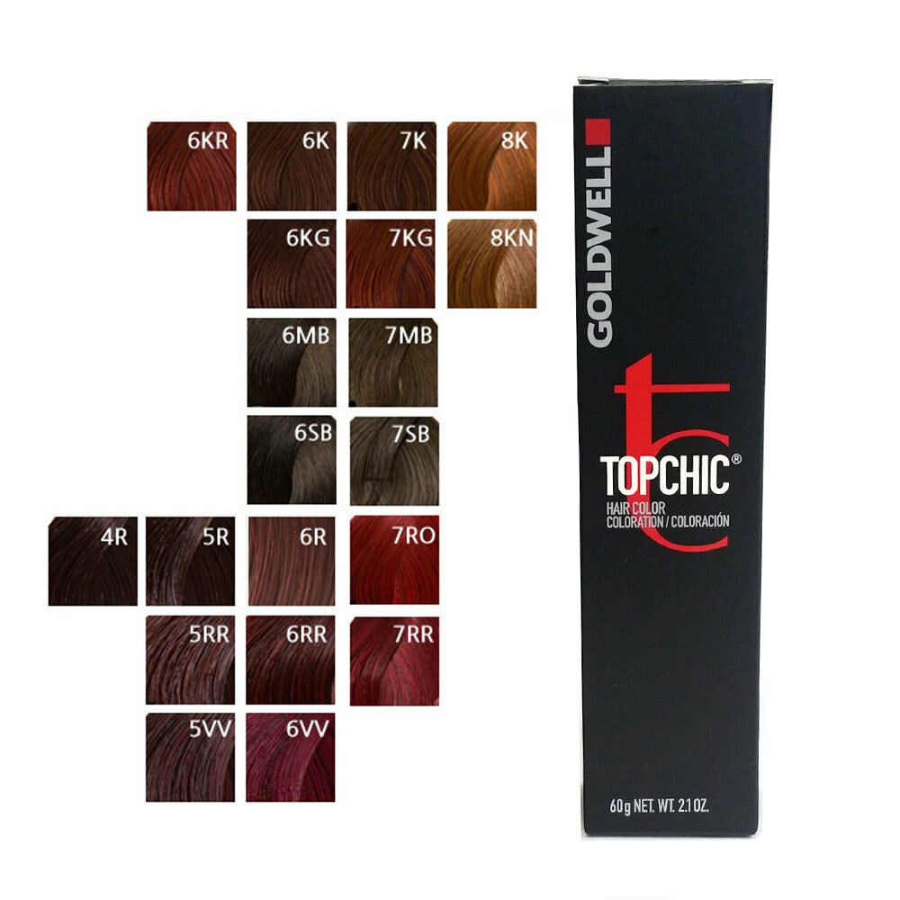 Goldwell Topchic Permanent Hair Color Tubes 2 1 Oz Red