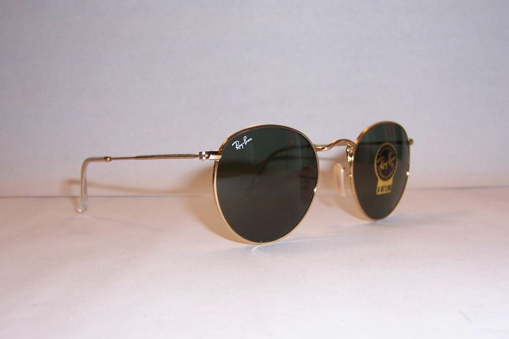 1eacce5755 Details about New RAY BAN ROUND METAL Sunglasses 3447 001 GOLD GREEN 50mm  AUTHENTIC