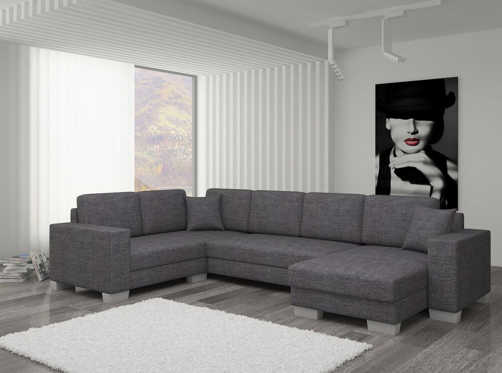 couch couchgarnitur sofa polsterecke mc 11 u wohnlandschaft schlaffunktion ebay. Black Bedroom Furniture Sets. Home Design Ideas