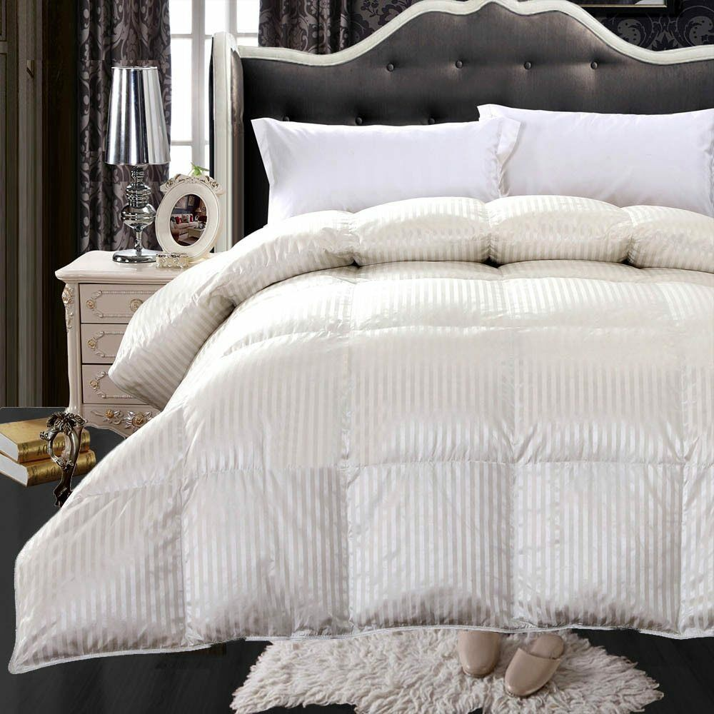 Royal Hotel 900 Thread Count Silk Amp Goose Down Striped Bedroom