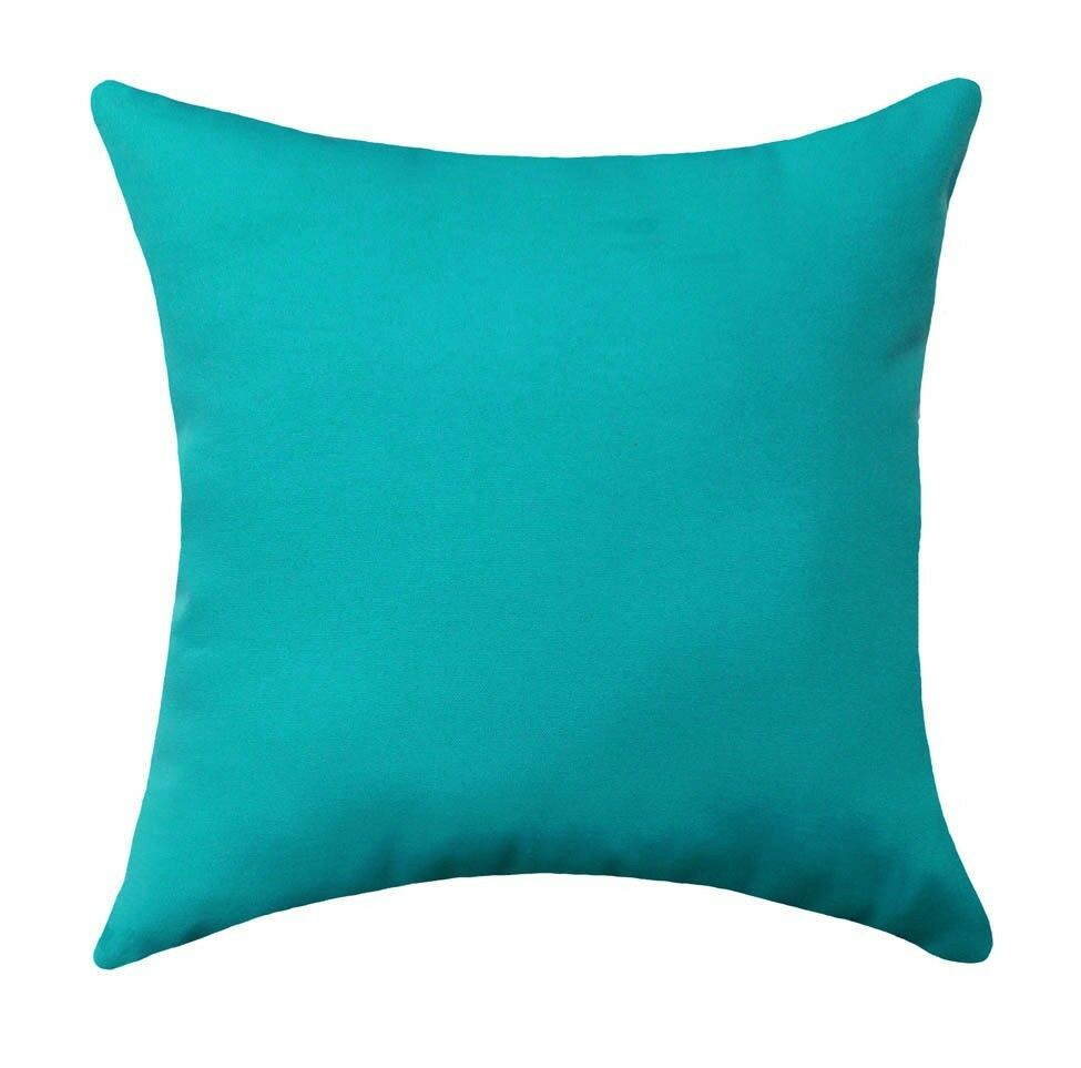 Solid Turquoise Pillow, Fresco Atlantis Turquoise Blue OUTDOOR Throw Pillow eBay