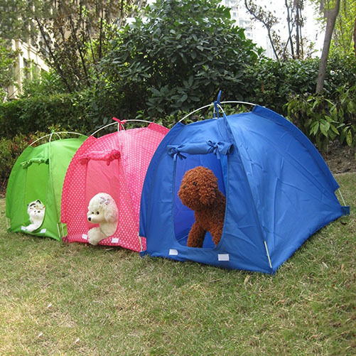Hot folding pet dog cat tent portable home outdoor puppy for Cat tent