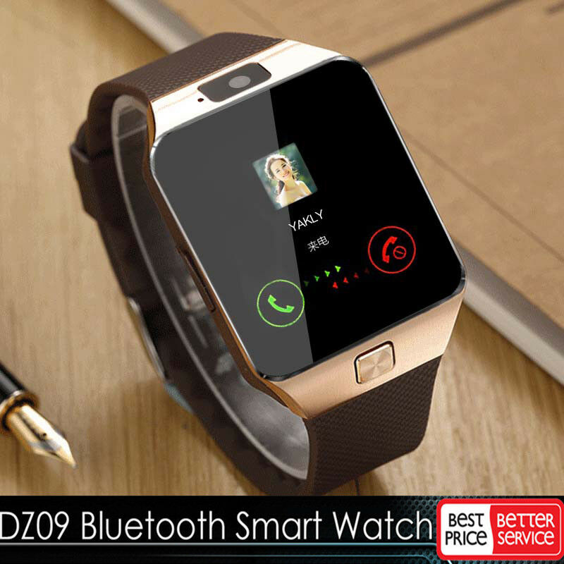 gold dz09 bluetooth smart watch gsm sim for iphone samsung lg android phone mate ebay. Black Bedroom Furniture Sets. Home Design Ideas