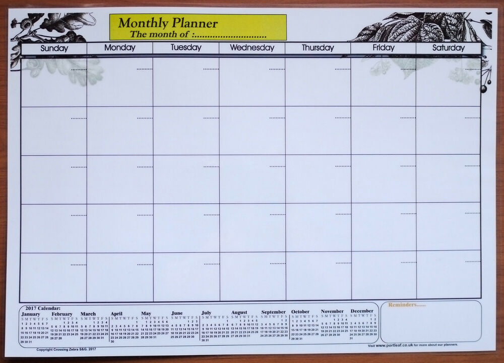 Table Calendar Size : A size laminate monthly planner dry wipe wall chart with