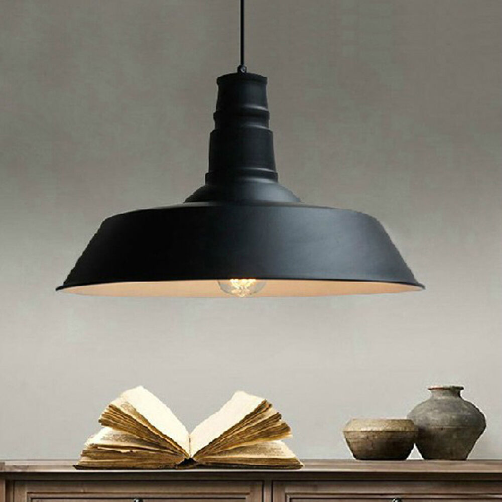 Metal shade pendant light vintage chandelier retro ceiling for Lustre salle a manger ikea
