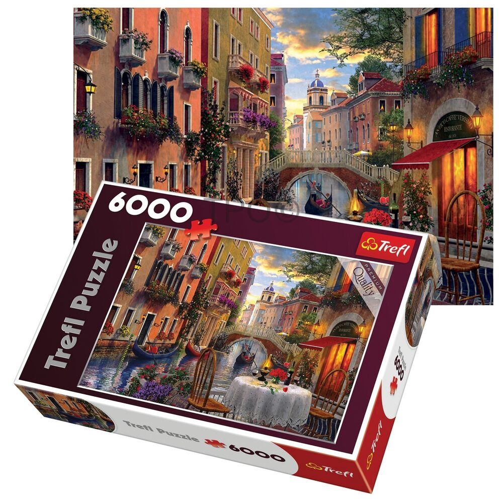 trefl 6000 piece adult large romantic venice supper meal floor jigsaw puzzle new 95178206422 ebay. Black Bedroom Furniture Sets. Home Design Ideas