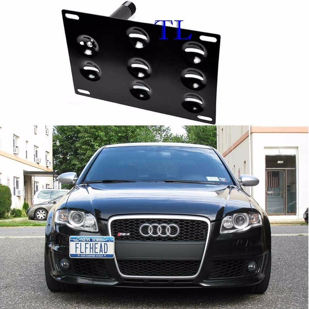 Audi A4 License Plate Frame: Front Bumper Tow Hook License Plate Mount Bracket For Audi