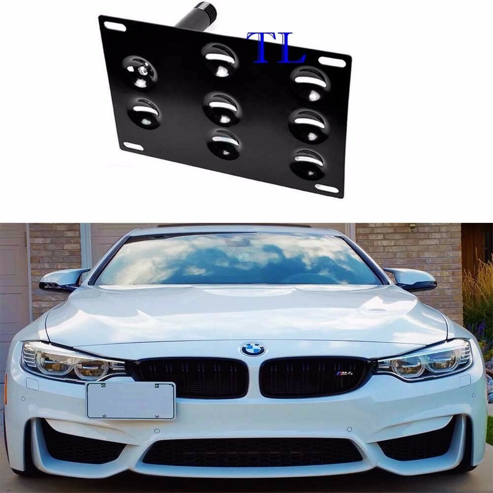 Front Bumper Tow Hook License Plate Mount Bracket For Bmw 2 3 4 5 Series Z4 X3 Ebay