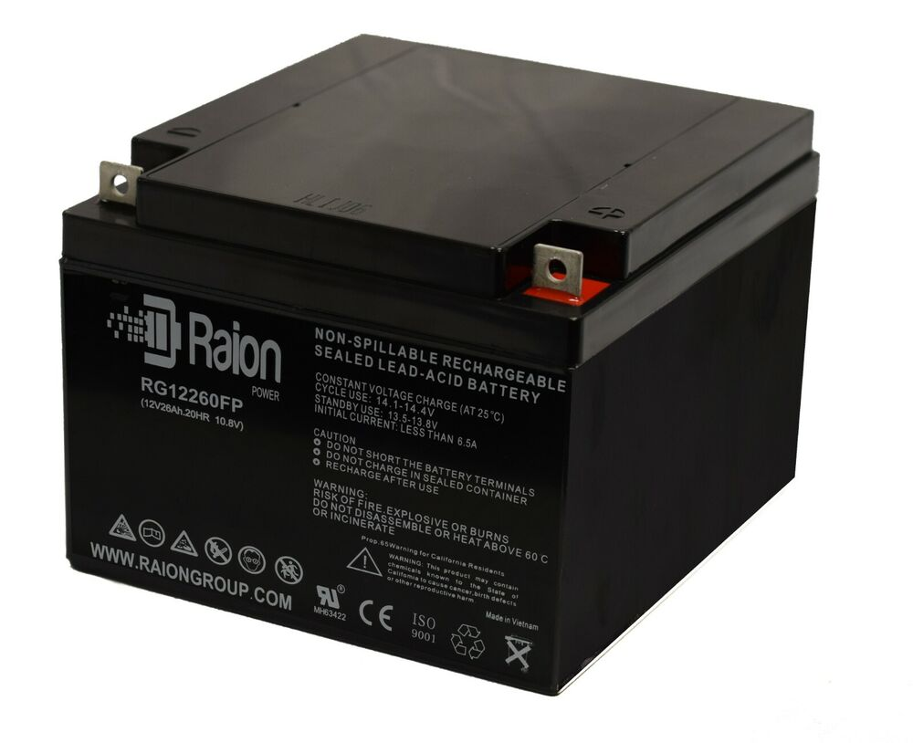 sps 12v 26ah wheelchair scooter battery replaces 28ah. Black Bedroom Furniture Sets. Home Design Ideas