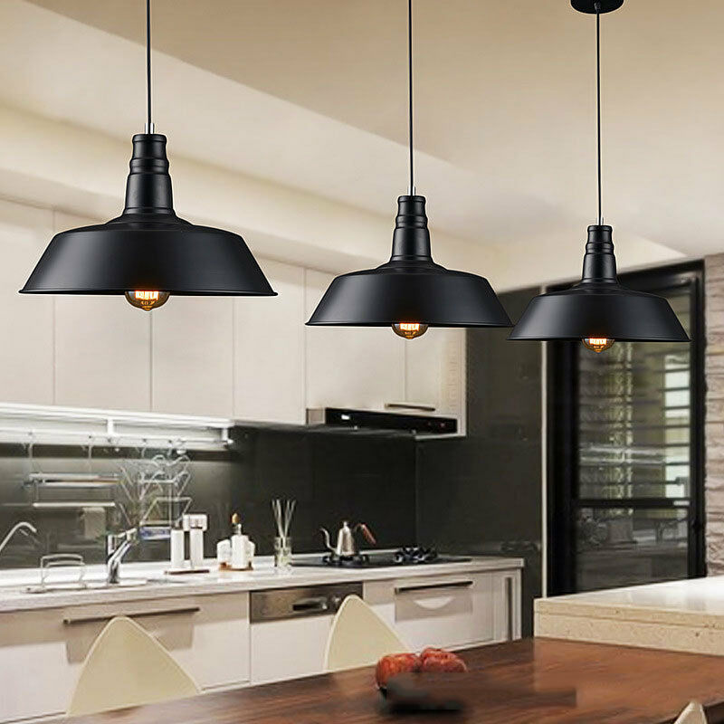 Metal vintage ceiling light modern chandelier pendant for Contemporary kitchen pendant lighting