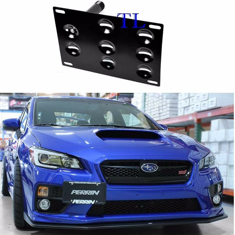 Front Bumper Tow Hook License Plate Bracket For Subaru Wrx