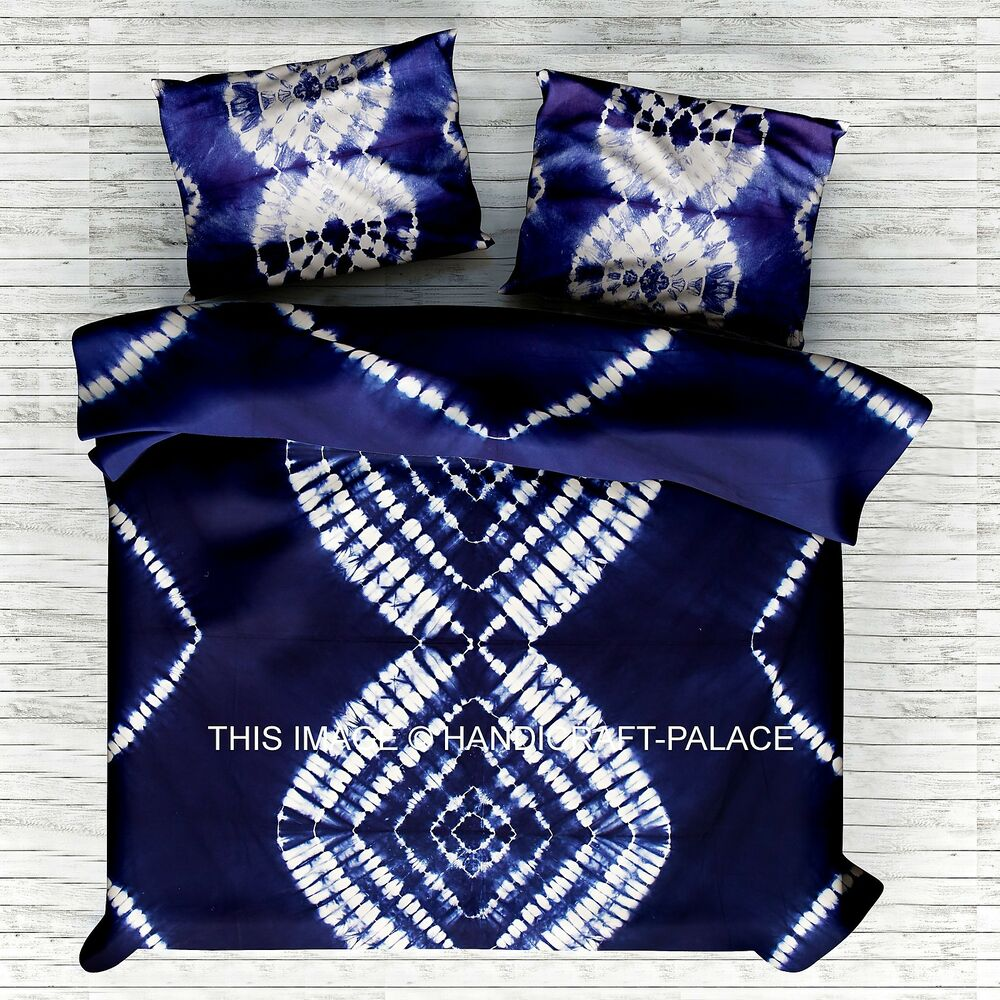 Indian Shibori Tie Dye Mandala Duvet Doona Cover King Size