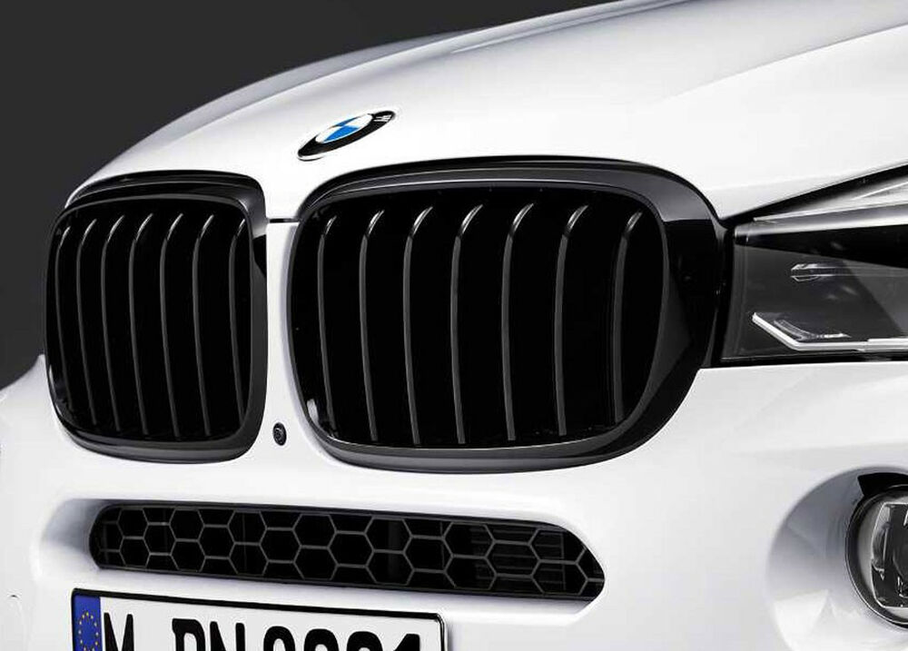 Bmw Oem M Performance Black Kidney Grille Set F16 X6 F15