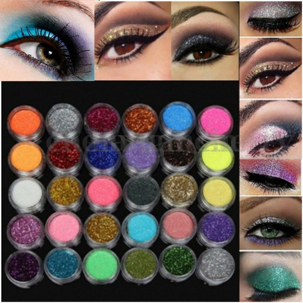 Loose glitter eye makeup