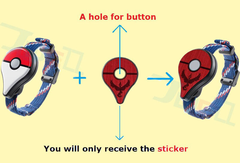 Details about PRE ORDER Pokemon GO Plus Valor Red case Cover Skin Sticker Accessory