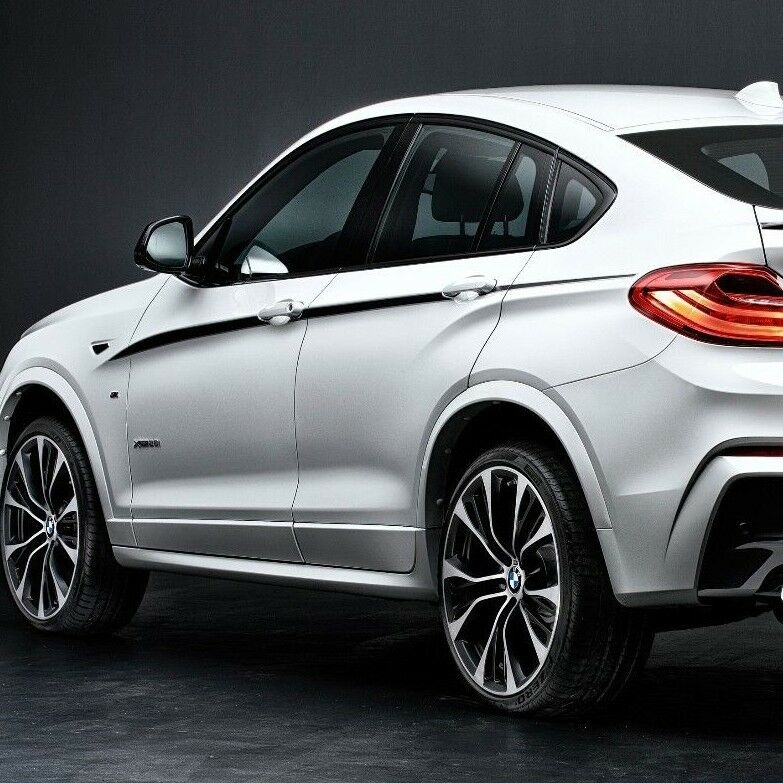 BMW X4 M F26 M Performance accent stripes Side Stripe Graphics decals | eBay