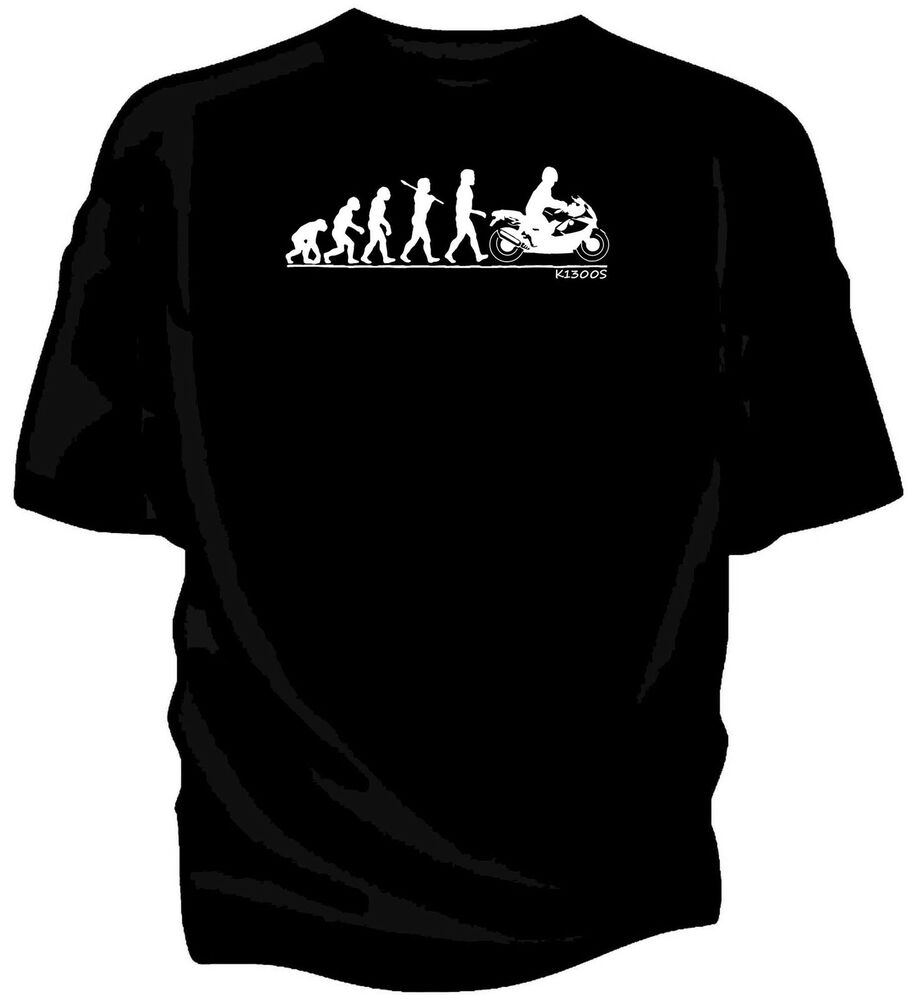 Evolution Of Man Bmw K1300s Classic Motorcycle T Shirt