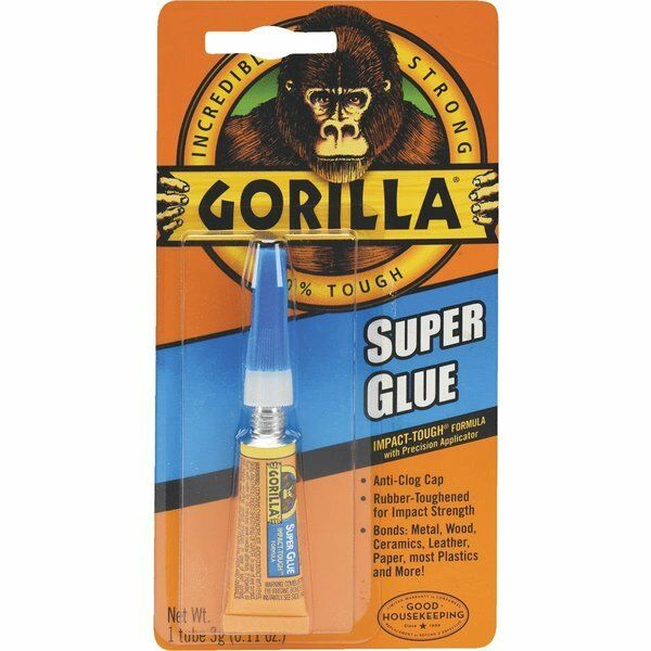 gorilla super glue clear metal rubber impact tough strong anti clog ebay. Black Bedroom Furniture Sets. Home Design Ideas