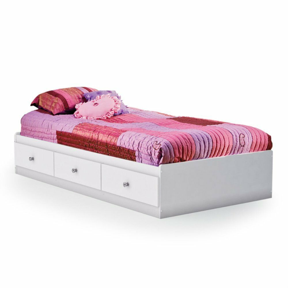 South Shore Crystal Mates Twin Platform Bed White Twin Ebay