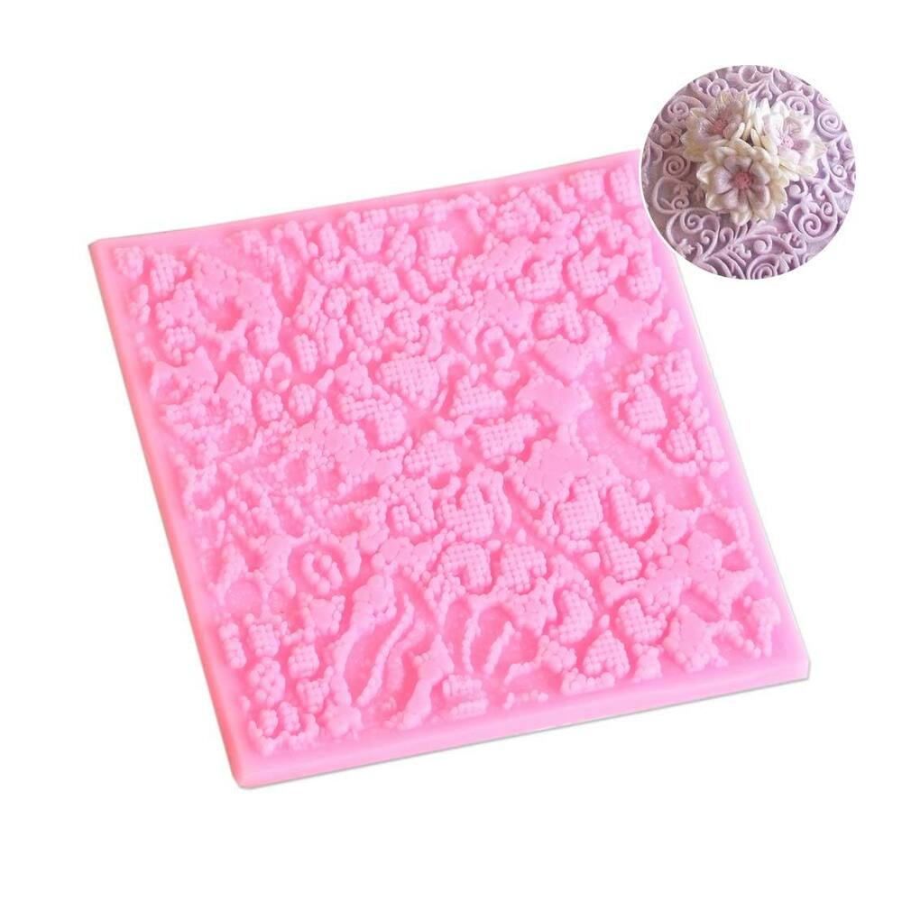 Silicone Lace Cake Mold Mould Mat Sugar Fondant Craft Decorating Baking Tool eBay