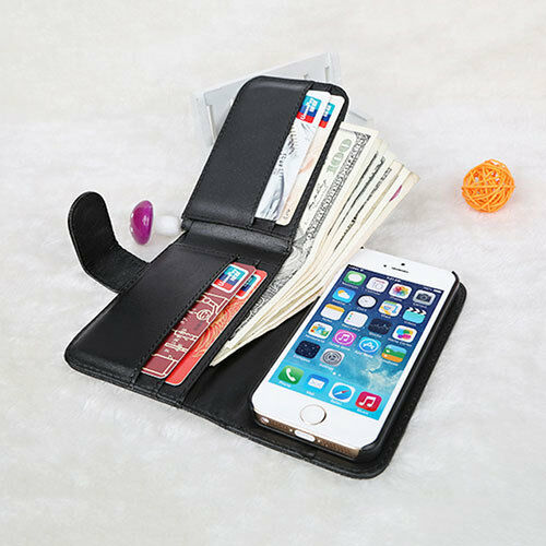 wallet case for iphone 5 for apple iphone 5 s synthetic leather credit card holder 18165