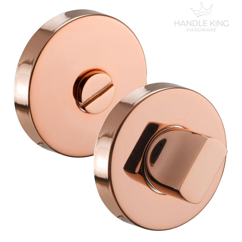 Polished Copper Bathroom Thumb Turn Lock & Release | eBay