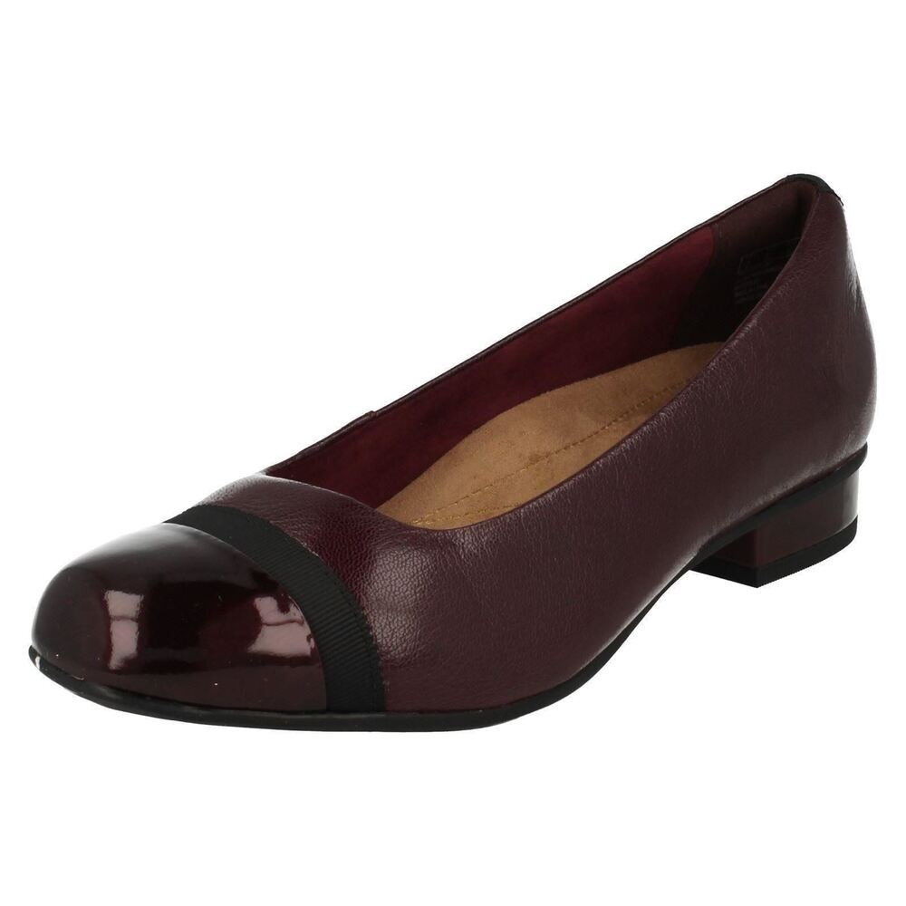 a10dd72ab0 Details about Ladies Clarks Keesha Rosa Leather Smart Court Shoes Wide E  Width